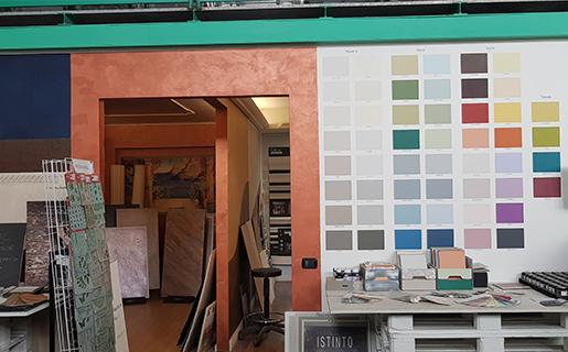 negozio, esposizione, vendita, caparol, attrezzi, utensili, lavoro, professionisti