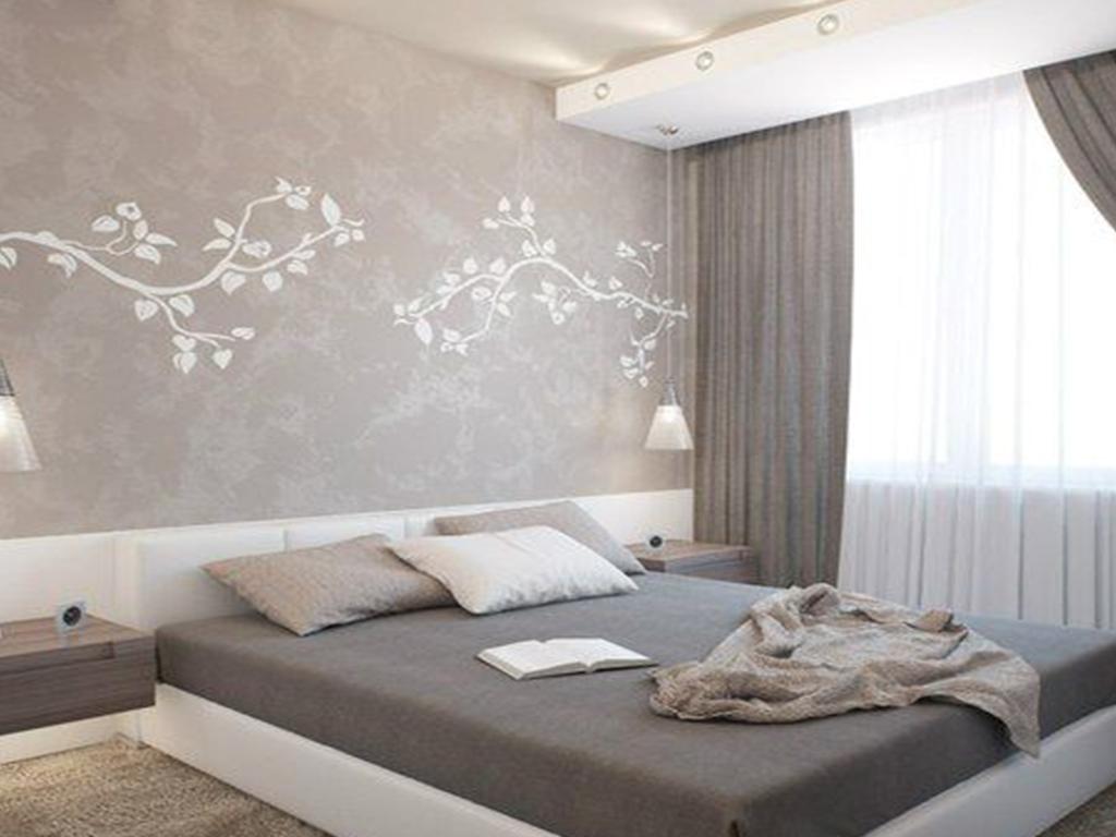 profondità cromatica stencil colori contemporanei decorazione stanza