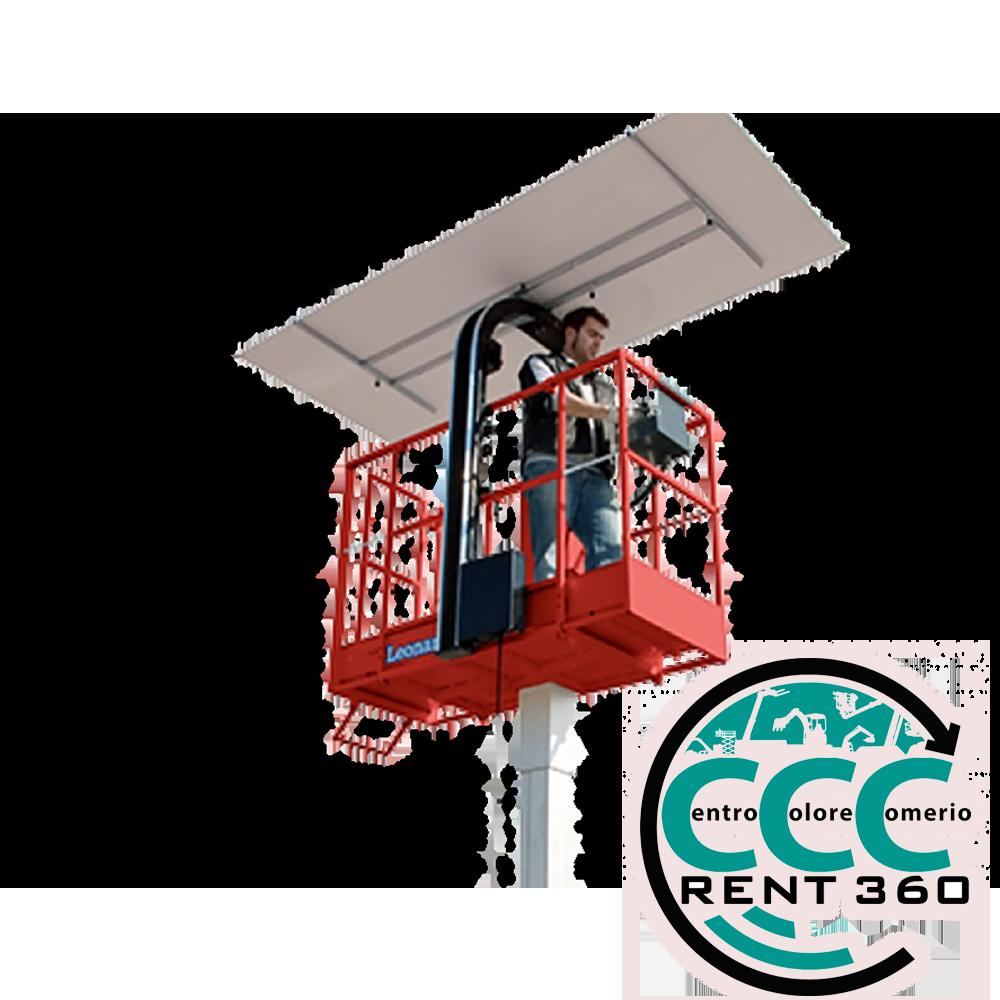 piattaforma-aerea-verticale elettrica 5,90 mt con-alzalastre