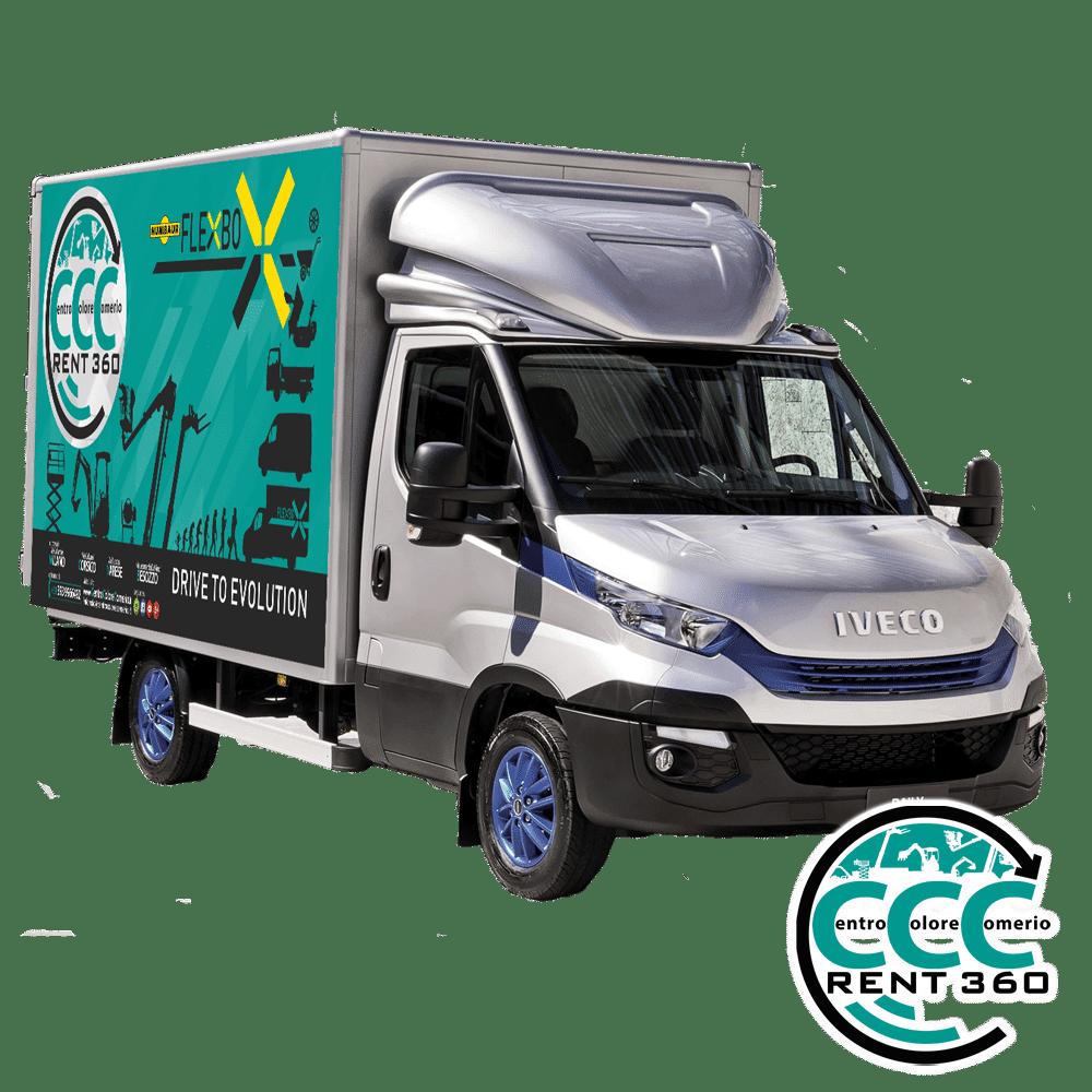 furgone chiuso con rampa idraulica a noleggio